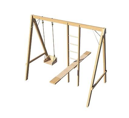 Amazon Com Kids Swing Set Ladder Seesaw Plans Diy