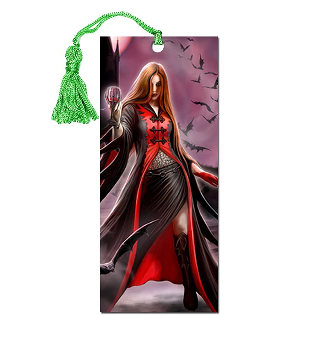 ANNE STOKES 3D Bookmark Gothic Fantasy Angel Vampire Bats 'Blood Moon' #9 Official Licensed Merchandise