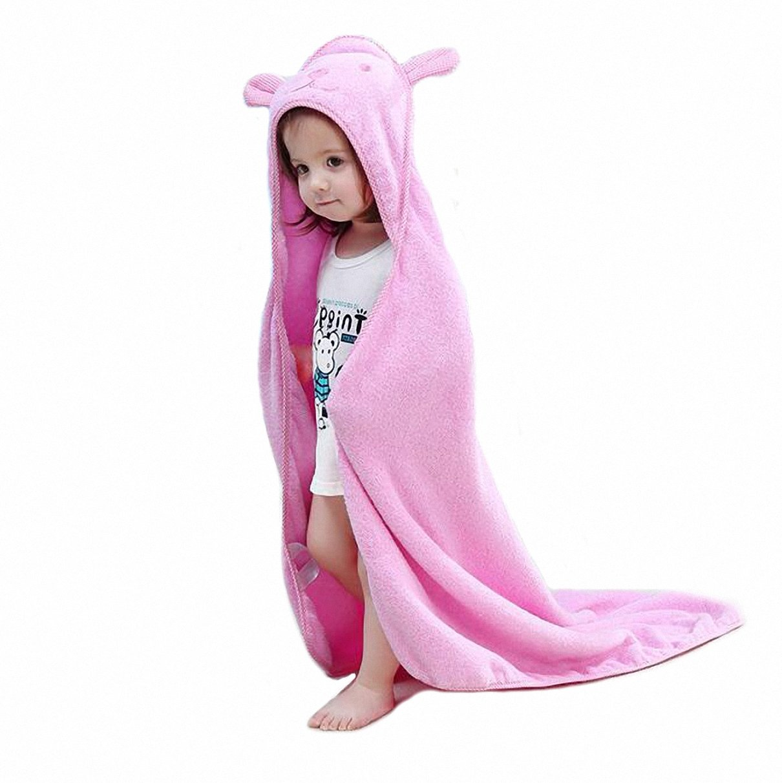 Kids Bath/Beach Towel with Hood Cotton 90x90CM Soft Towel for Baby Blue Saiman SYNCHKG112500