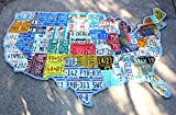 Huge License Plate Map of the United States of America