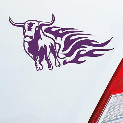 Auto Adhesivo en tu deseos Color Toro Tribal llamas Hot Flame Bull ...
