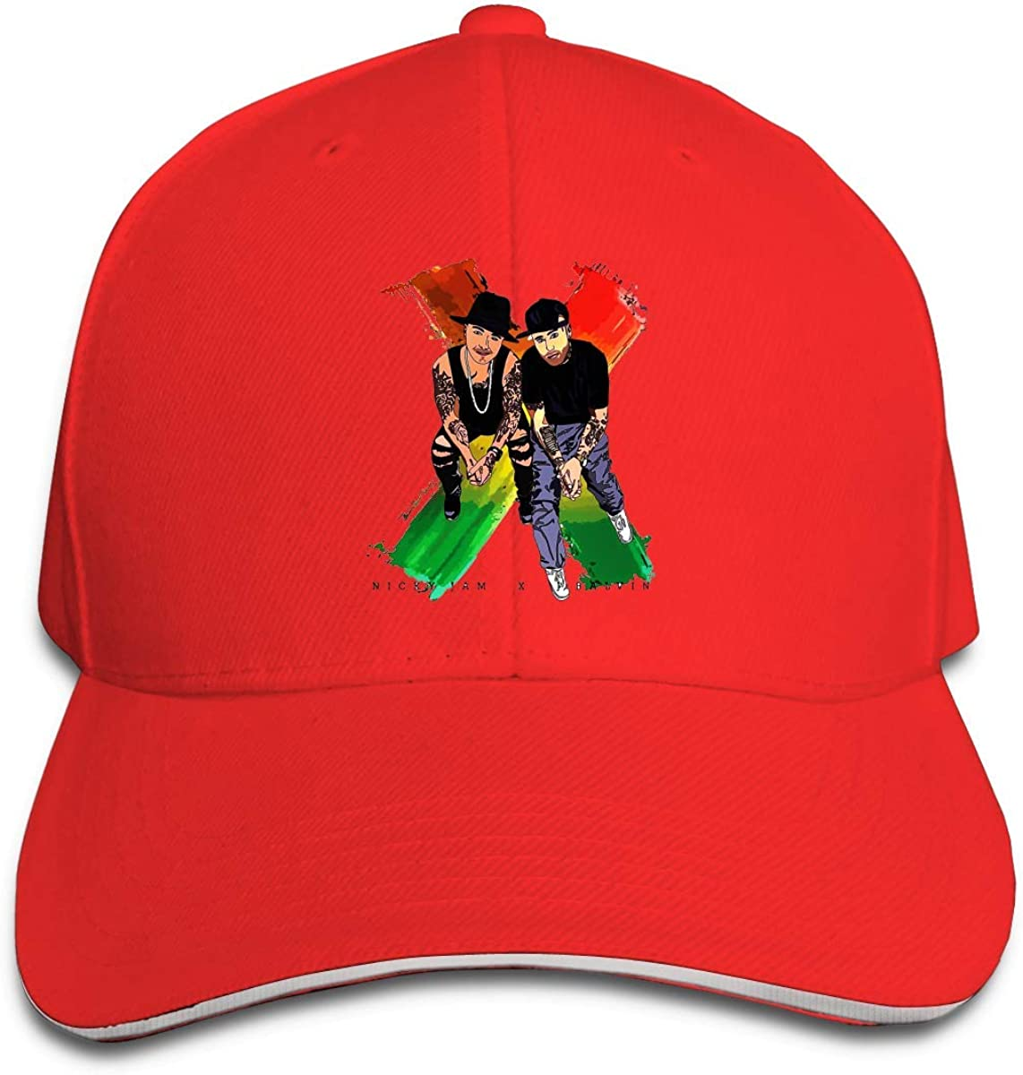 XSW Nicky Jam X J-Balvin Unisex Flat Bill Gorras de Béisbol ...