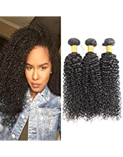 Huarisi Curly Brazilian Hair Bundles 18 20 22 Inches 100 Human Hair Weave Tight Kinky Curl Haarextensies for Black Women