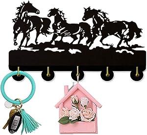 Running Horse Wall Door Hook Hanger Living Room Kitchen Animals Vintage Hook Housekeeper Home Decor Wall Hook