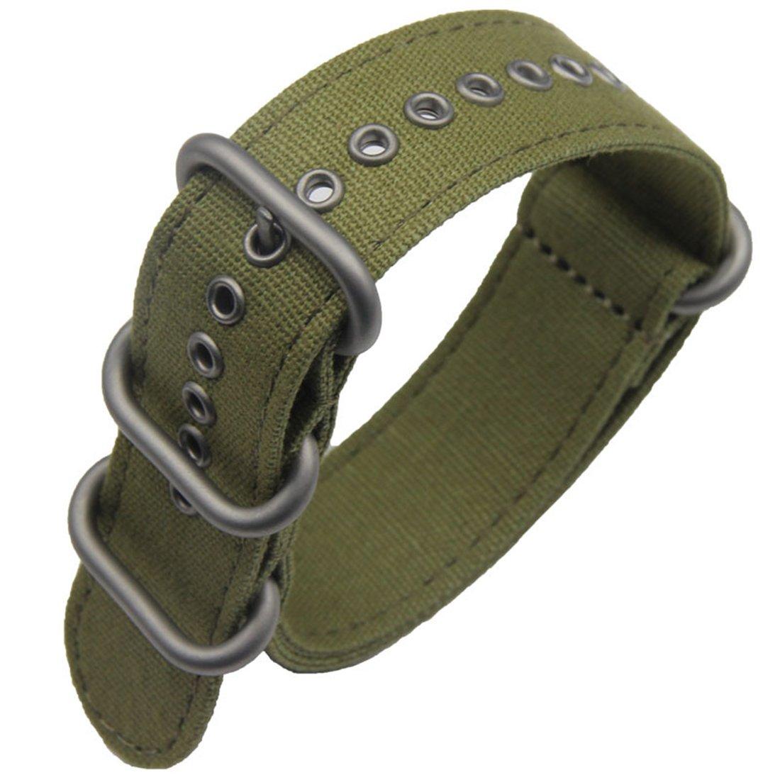 de Gama Alta de Lujo de Estilo Verde de la NATO Lona Resistente importación Reloj Deportivo de reemplazo de Correa de Banda del ejército 18-26mm ...