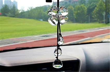 Crystal Star Pendant Car Interior Hanging Decoration Rear View Mirror Pendant BA