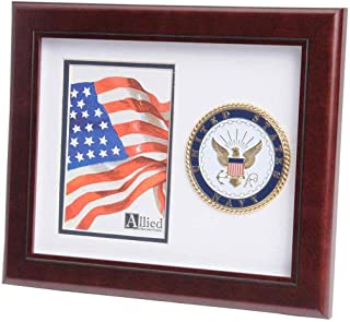 product image for flag connections US Navy Medallion Portrait Picture Frame - 4 x 6 Picture Opening