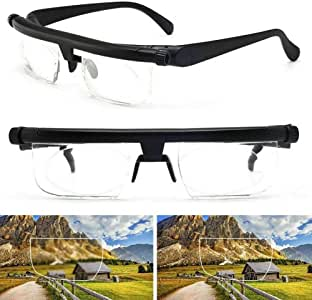 Adjustable Eye Glasses Dial Vision Zoom Lens Variable Focus for Distance Reading