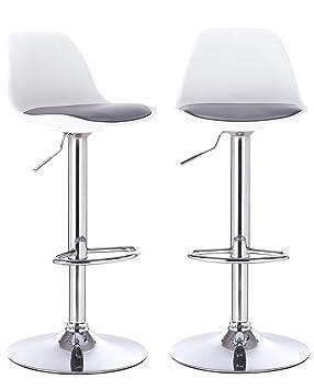 KAYELLES tabourets de Bar Cuisine Design SIG - Lot de 2 chaises de Bar  réglable ( f505aeef4785
