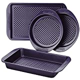 Farberware Colorvive Nonstick Bakeware Set, 4-Piece, Purple