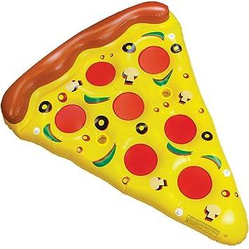 Tante Tina Flotador Inflable en Forma de Pizza Tamaño Gigante, 160 cm x 180cm - Cama Flotante - Juguete de Piscina - Amarillo/Rosa/Marron: Amazon.es: ...