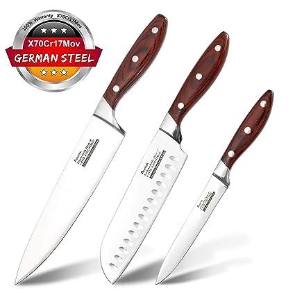 Acelink Cuchillo de Cocina, Juego de Cuchillos Profesional ...