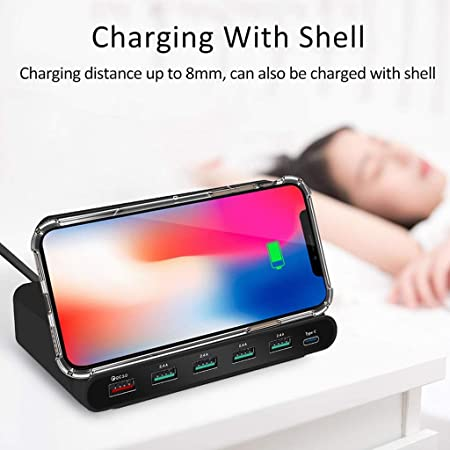 Amazon.com: WLPT 3 in 1 Charger, Universal 60W Qi Wireless ...