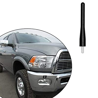 "Black 3.6"" Aluminum Short Direct Replacement Screw Thread Performance Antenna Mast Whip fits 2009-2020 Dodge RAM 2500 3500 Truck Pickup: Car Electronics"