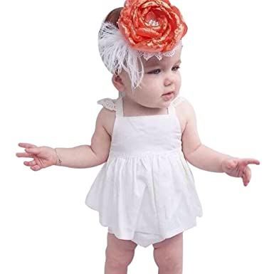 Amazon Com Pollyhb Baby Girl Clothes Set Summer Baby Girl Dress
