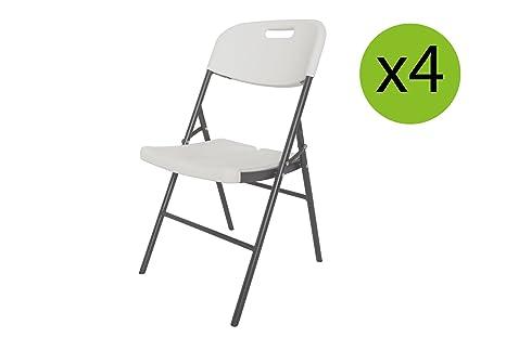 Sedie Pieghevoli Prezzi Offerte : Xone sedie pieghevoli 4 pezzi stampo legno bianco struttura in