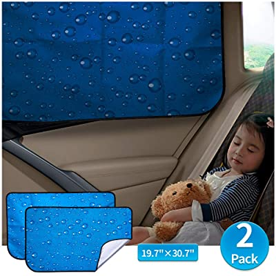 Car Sun Shade Car Window Shade Double Thickness Rear Side Window Auto Sunshades Universal Fit for rv truck UV protection 2 Pack by aokway: Automotive