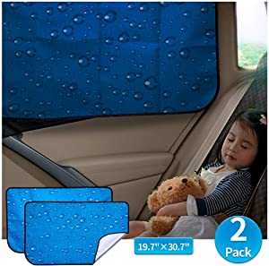 aokway Car Sun Shade Car Window Shade Double Thickness Rear Side Window Auto Sunshades Universal Fit for rv Truck UV Protection 2 Pack