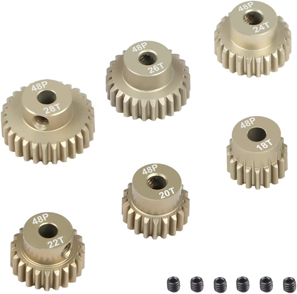 2Pcs 48DP 26T Pinion Motor Gear for 1//10 RC Car Motor From USA