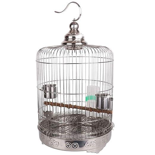 DWY Jaulas para pájaros Acero Inoxidable Jaula de pájaros de la ...