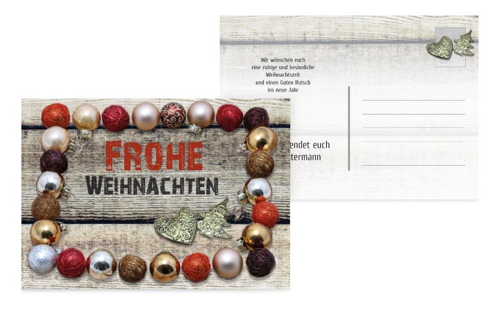 Weihnachtskarten  Weihnachtsgrußkarte Kugelrahmen, hochwertige Grußkarte Grußkarte Grußkarte zu Weihnachten inklusive Umschläge   40 Karten (Format  148.00x105.00mm) Farbe  Rot B071NVRB2C | Ein Gleichgewicht zwischen Zähigkeit und Härte  | Sale Outlet  | G ff8e8d