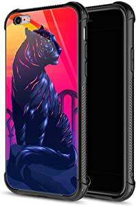 CARLOCA iPhone 6S Case,Retro Style Tiger iPhone 6 Cases for Girls Boys,Graphic Design Shockproof Anti-Scratch Hard Back Case for Apple iPhone 6/6S