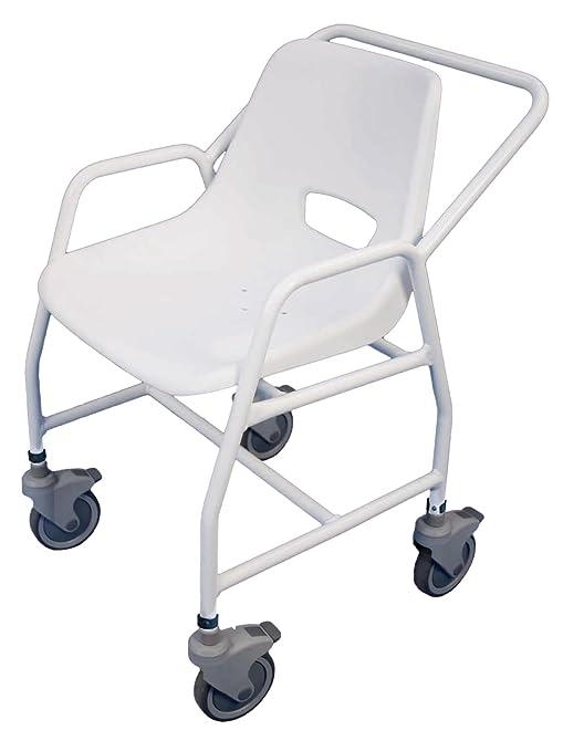 Aidapt Hythe - Sedia regolabile da doccia, con rotelle e 4 freni ...