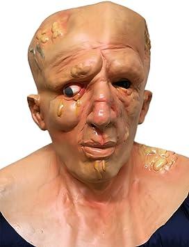 INBRED Quemado Hombre Máscara Jason PEREZA látex Película Elegante Halloween Máscaras: Amazon.es: Juguetes y juegos