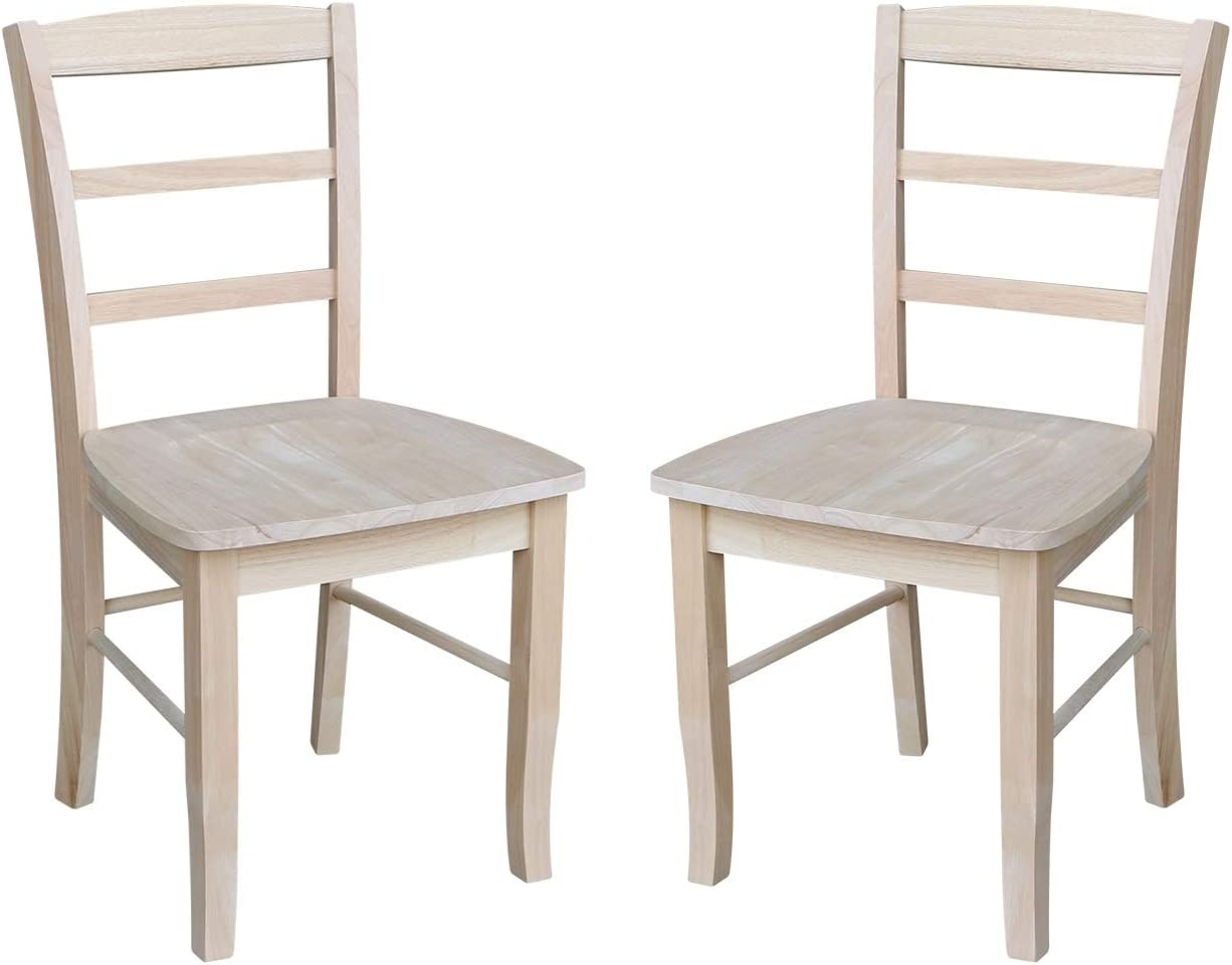 Amazon Com International Concepts Madrid Dining Chair Height Unfinished Chairs