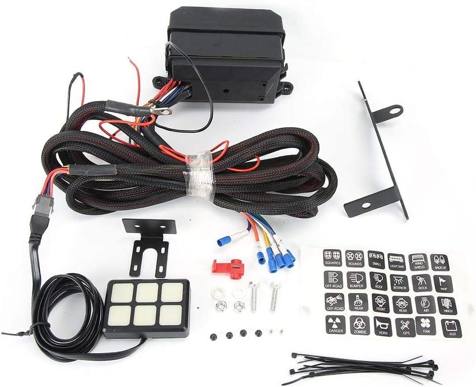 Amazon.com: Circuit Control Box, 6 Level Switch Panel Relay System Circuit  Control Box Wiring Harness Accessory for Car Boat: AutomotiveAmazon.com