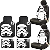 8PC Star Wars Stormtrooper Seat Covers Front Rear Rubber Floor Mats Universal