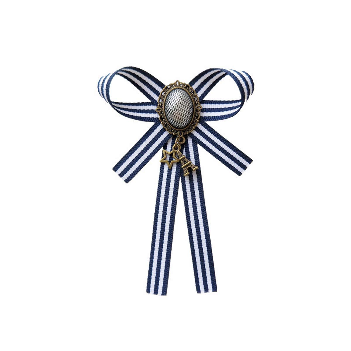 KUNQ-Retro Stripes Perla Corbatas Banco Moños Lazos Cuello De ...