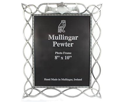 "c8242bda33d7 Mullingar Pewter Claddagh Picture Frame Pewter Celtic Weave Design 8"" Wide x  10"" Tall"