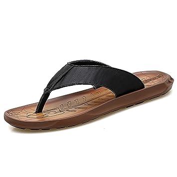 GCH Verano Sandalias de Cuero de los Hombres Zapatos y Sandalias de Playa,Negro,
