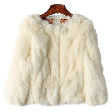 4719dce2d ETHEL ANDERSON Rabbit Fur Coat, Genuine Rabbit Fur Coat Women's ...