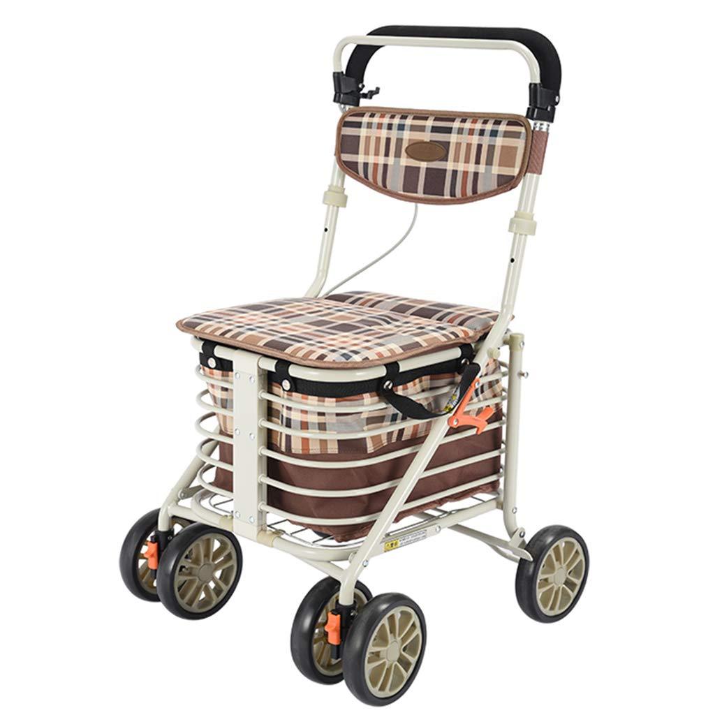 最も信頼できる 歩行器 歩行器折りたたみ式歩行器携帯用ショッピングカート高齢者用トロリースクーター歩行器座ることができる携帯用耐荷重100kg高齢者に親密な贈り物車椅子買物車プッシャブルカー軽量折りたたみ歩行器 B07MKNWS1Z (Color : B) (Color B) B B07MKNWS1Z, 出水市:b97c63cb --- a0267596.xsph.ru
