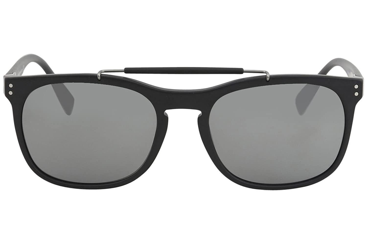 ef2e6f3ee13 Amazon.com  Burberry Men s 0BE4244 Matte Black Silver Mirror One Size   Clothing