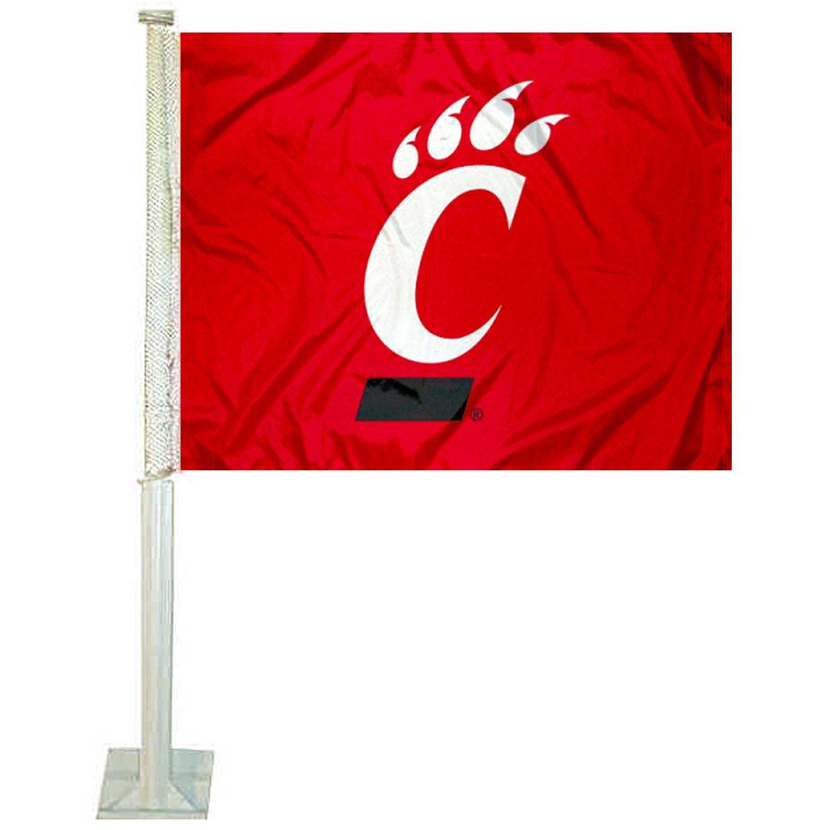 College Flags /& Banners Co Cincinnati Bearcats Red Car Flag