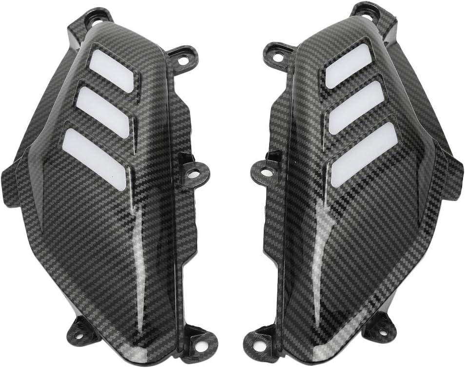 KKmoon Tanque de Fibra de Carbono Cubierta Lateral Panel Kits de Carenado para NMAX 155 125 2016-2019