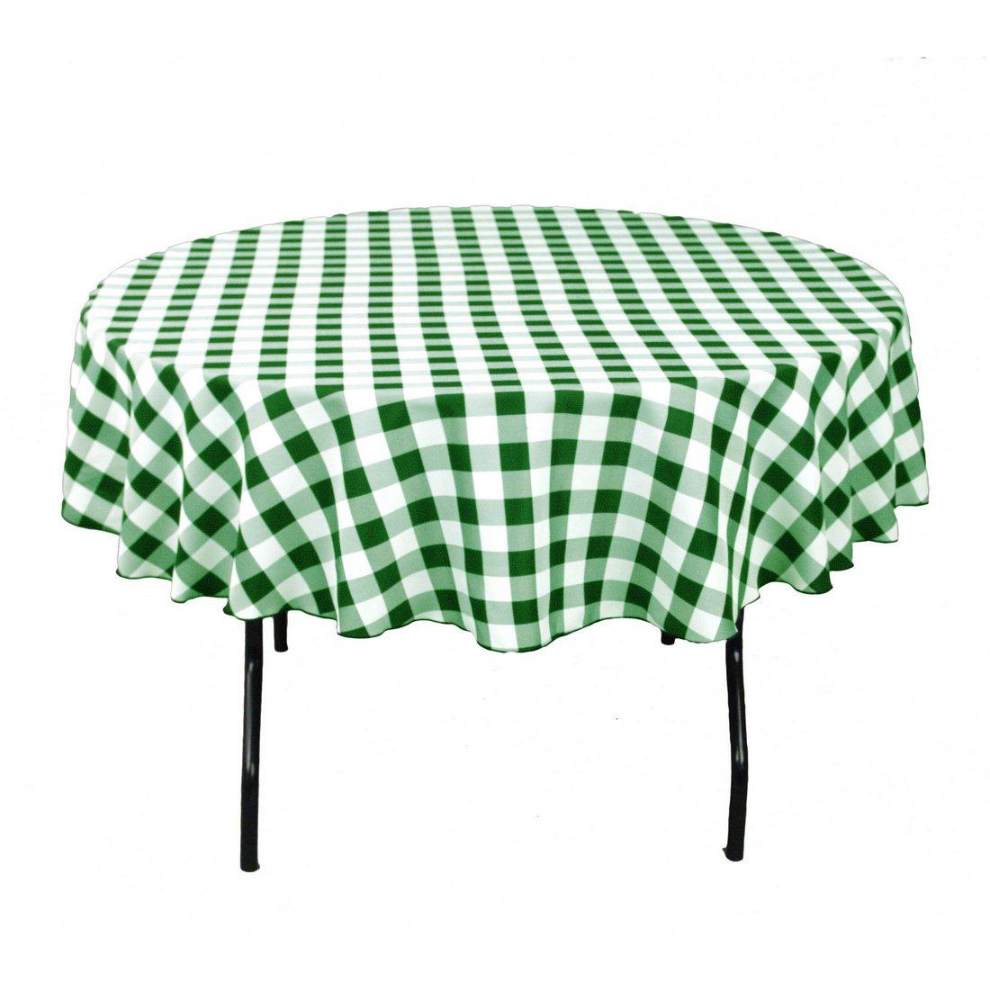 Amazon.com: LinenTablecloth 90 Inch Round Polyester Tablecloth Black U0026  White Checker: Home U0026 Kitchen