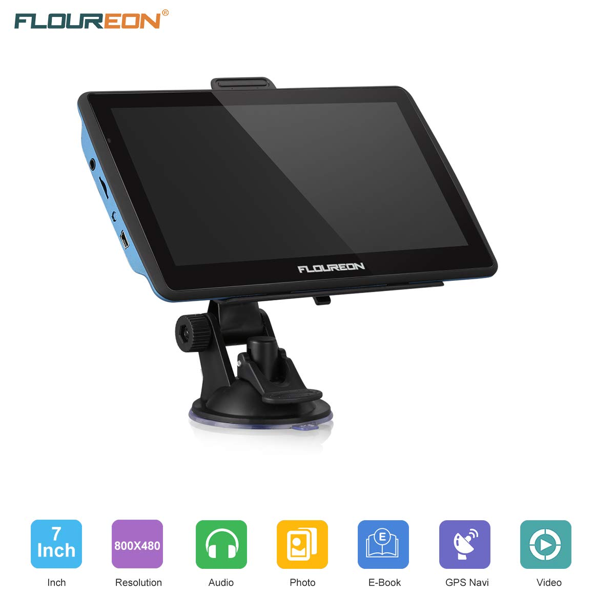 FLOUREON Dispositivo di Navigazione LCD Touch Screen da 7\
