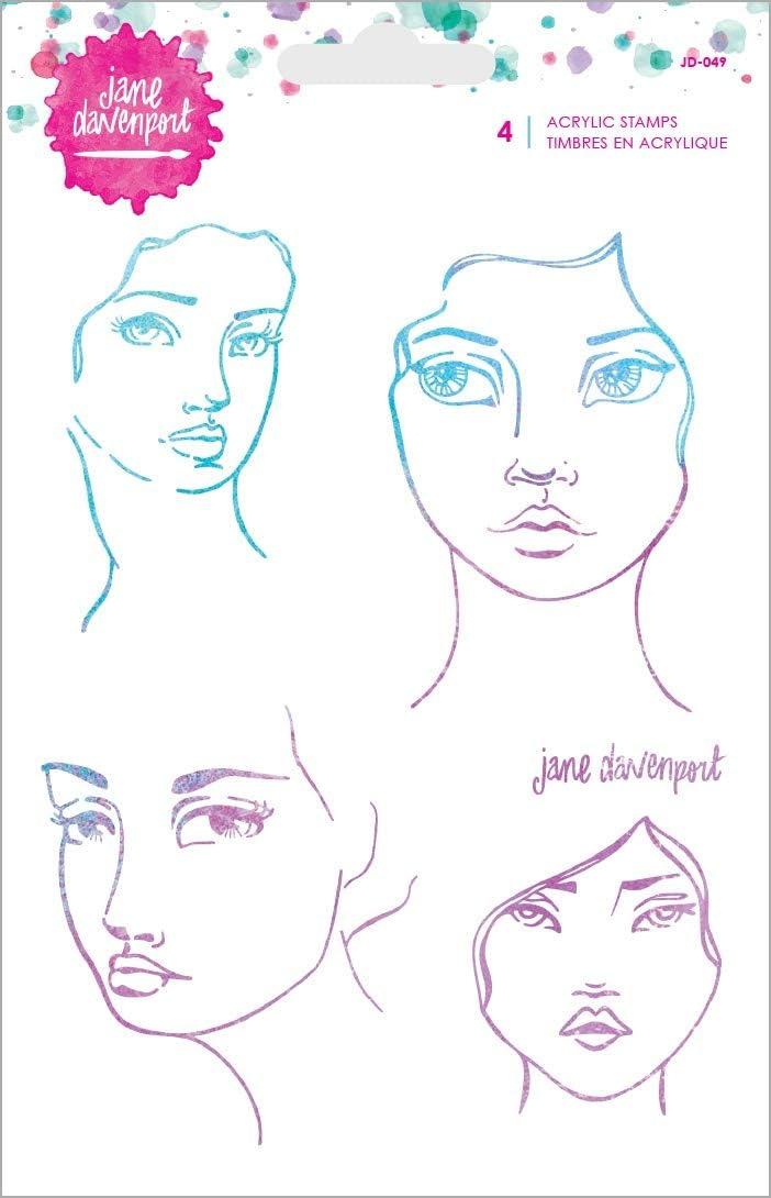 Jane Davenport JD-050 JD Clear Stamps Eyes