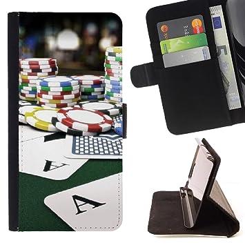 Graphic4You Póker cartas fichas Cuero Carcasa Funda Monedero ...
