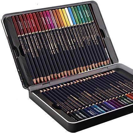 48 colores Caja de lata Set Lápices de colores solubles en agua ...