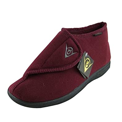 05b8a91b4068e1 Mens Dunlop Burgundy Ankle Boot Velcro Slipper Wide Fit Slippers Size UK 8