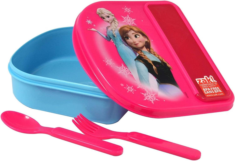 Disney Frozen Food Storage Container w/Fork & Spoon By Zak!