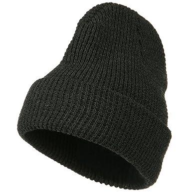 e1e1473f8b7 Big Stretch Waffle Stitch Cuff Beanie - Charcoal (for Big Head) at Amazon  Men s Clothing store  Skull Caps