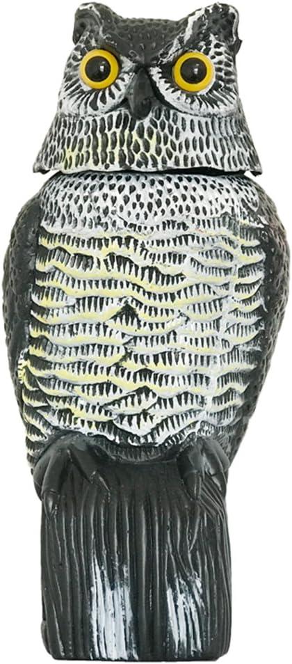 Búho Espantapájaros, wind-action pájaro repelente Disuade a pájaros y las plagas Animal como palomas de jardín esferas