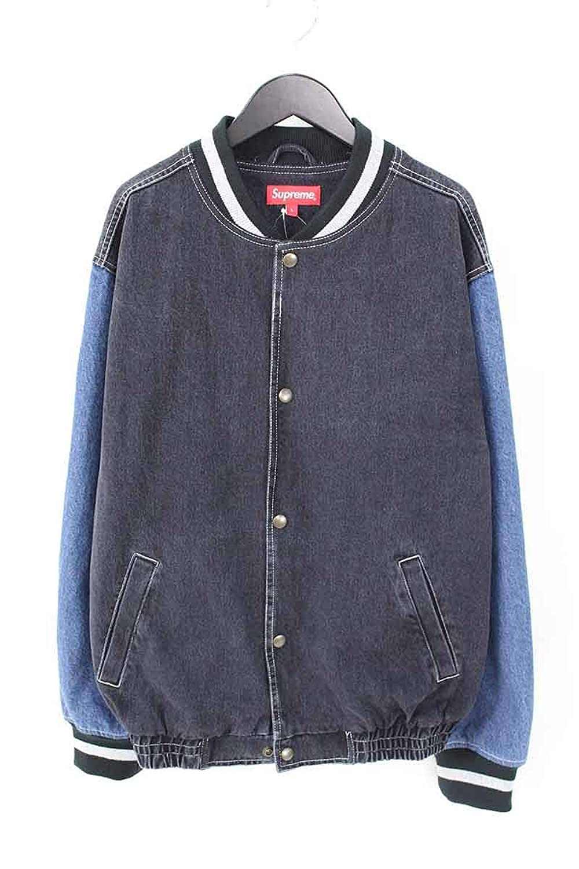 (シュプリーム) SUPREME 【18SS】【Denim Varsity Jacket】袖カラー切替ブルゾン(L/ブルー) 中古 B07DVGPLV4  -