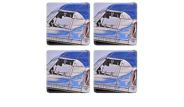 Amazon.com | MSD Square Coasters Non-Slip Natural Rubber Desk Coasters design 21584562 vintage airplane: Coasters